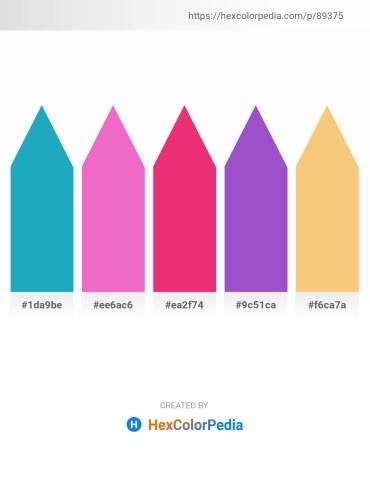 Palette image download - Light Sea Green – Violet – Medium Violet Red – Medium Orchid – Sandy Brown