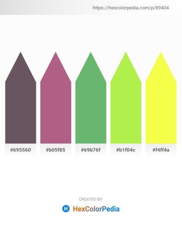 Palette image download - Dim Gray – Rosy Brown – Dark Sea Green – Green Yellow – Green Yellow