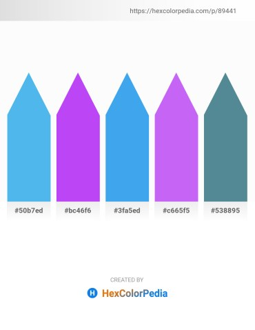 Palette image download - Cornflower Blue – Blue Violet – Cornflower Blue – Medium Slate Blue – Cadet Blue