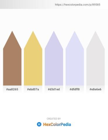 Palette image download - Rosy Brown – Khaki – Light Steel Blue – Lavender – Gainsboro