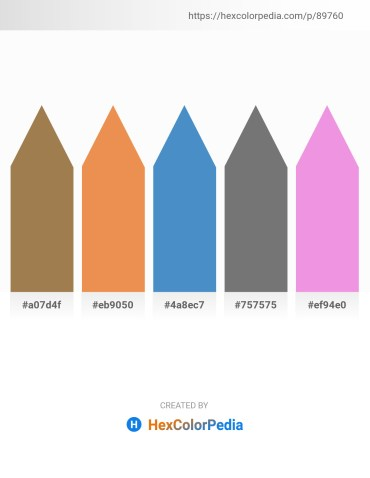 Palette image download - Rosy Brown – Sandy Brown – Steel Blue – Gray – Violet