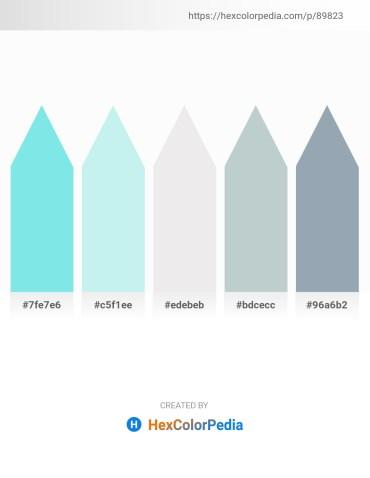 Palette image download - Sky Blue – Pale Turquoise – White Smoke – Light Steel Blue – Light Slate Gray