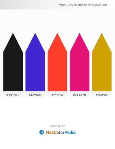 Palette image download - Black – Blue Violet – Tomato – Medium Violet Red – Dark Goldenrod