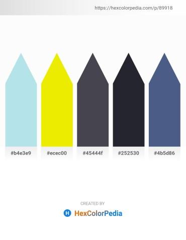 Palette image download - Powder Blue – Yellow – Dark Slate Gray – Tan – Dark Slate Blue