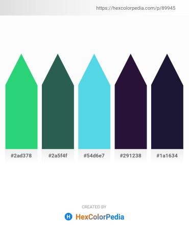 Palette image download - Medium Sea Green – Dark Slate Gray – Turquoise – Midnight Blue – Midnight Blue