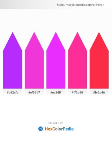 Palette image download - Dark Violet – Magenta – Gray – Deep Pink – Tomato