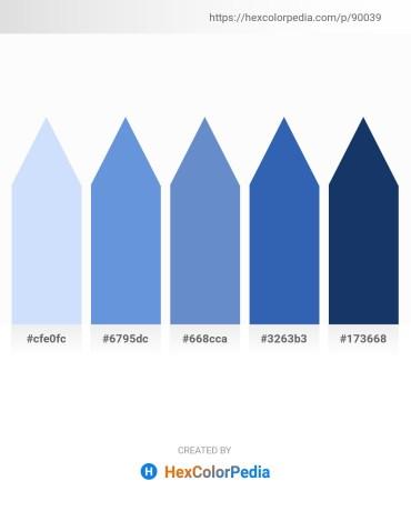 Palette image download - Alice Blue – Cornflower Blue – Steel Blue – Steel Blue – Midnight Blue