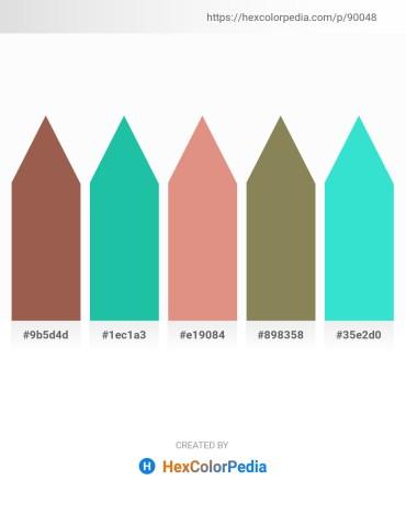 Palette image download - Sienna – Light Sea Green – Dark Salmon – Dim Gray – Turquoise