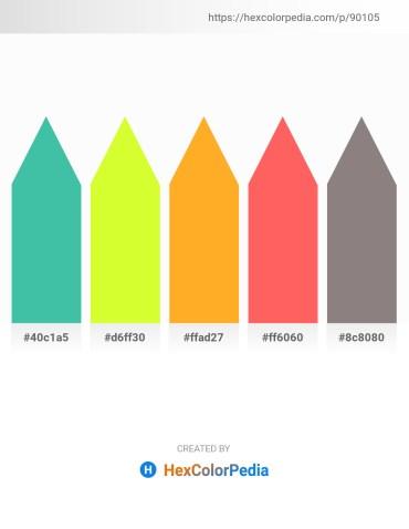 Palette image download - Medium Aquamarine – Green Yellow – Orange – Tomato – Gray