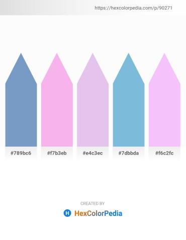 Palette image download - Steel Blue – Violet – Lavender – Sky Blue – Lavender