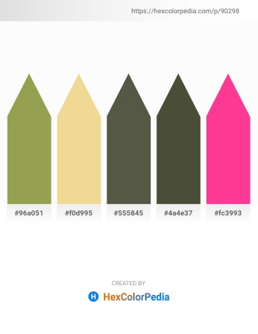 Palette image download - Dark Khaki – Khaki – Dim Gray – Dark Olive Green – Deep Pink