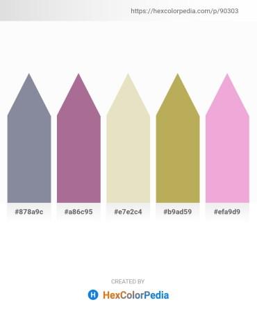 Palette image download - Light Slate Gray – Rosy Brown – Beige – Dark Khaki – Violet