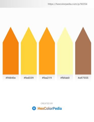 Palette image download - Dark Orange – Gold – Orange – Moccasin – Pale Green
