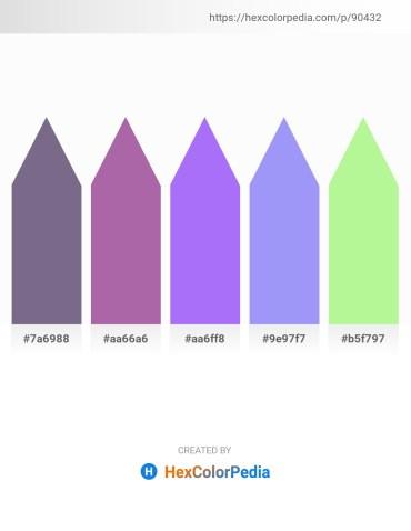 Palette image download - Slate Gray – Light Slate Gray – Medium Slate Blue – Medium Slate Blue – Pale Green