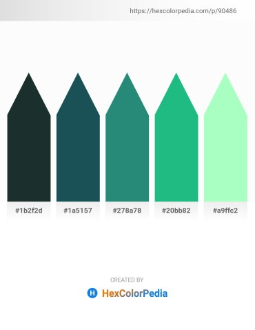 Palette image download - Dark Slate Gray – Dark Khaki – Sea Green – Light Sea Green – Pale Green