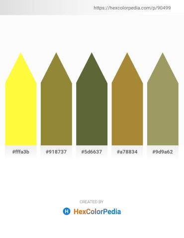Palette image download - Yellow – Tan – Dark Olive Green – Peru – Dark Khaki