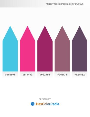 Palette image download - Turquoise – Deep Pink – Steel Blue – Steel Blue – Dim Gray
