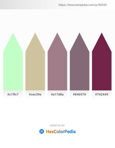 Palette image download - Honeydew – Tan – Rosy Brown – Gray – Lemon Chiffon