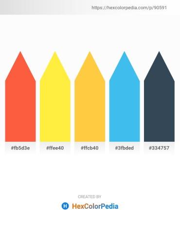 Palette image download - Tomato – Yellow – Sandy Brown – Dim Gray – Dark Slate Gray