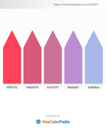 Palette image download - Tomato – Pale Violet Red – Pale Violet Red – Medium Purple – Light Blue