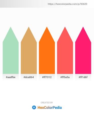 Palette image download - Powder Blue – Burlywood – Dark Orange – Tomato – Deep Pink