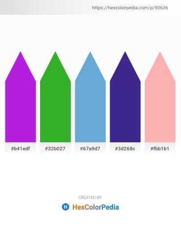 Palette image download - Blue Violet – Lime Green – Tomato – Midnight Blue – Light Pink