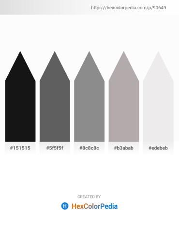 Palette image download - Black – Dim Gray – Gray – Dark Gray – White Smoke