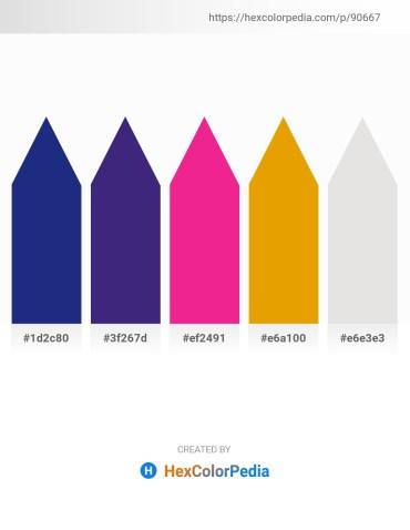 Palette image download - Midnight Blue – Midnight Blue – Deep Pink – Orange – Gainsboro