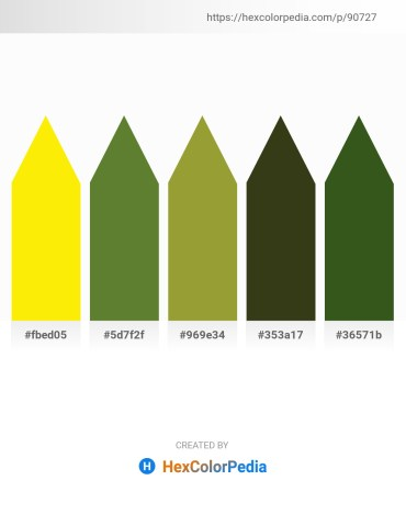 Palette image download - Yellow – Dark Olive Green – Olive Drab – Dark Olive Green – Dark Olive Green