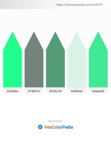 Palette image download - Spring Green – Slate Gray – Cadet Blue – Powder Blue – Turquoise