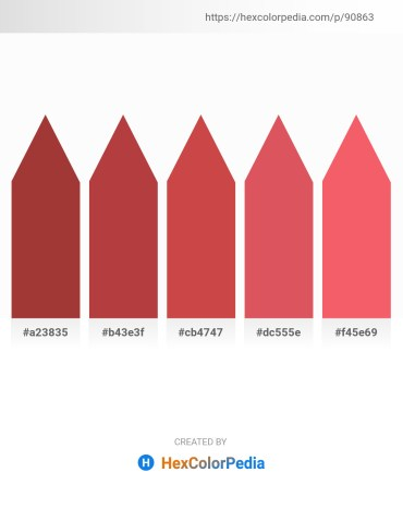 Palette image download - Brown – Sienna – Indian Red – Indian Red – Salmon