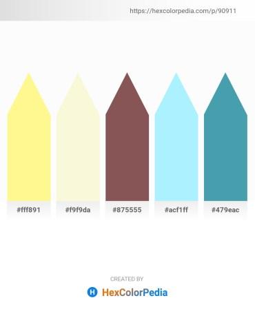 Palette image download - Navajo White – Light Goldenrod Yellow – Dim Gray – Light Cyan – Steel Blue
