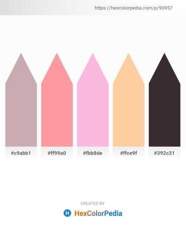 Palette image download - Rosy Brown – Light Pink – Pink – Navajo White – Black