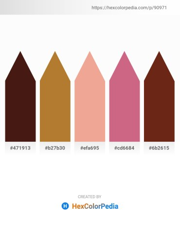 Palette image download - Turquoise – Peru – Dark Salmon – Pale Violet Red – Saddle Brown