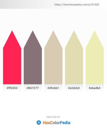 Palette image download - Deep Pink – Gray – Tan – Tan – Pale Goldenrod