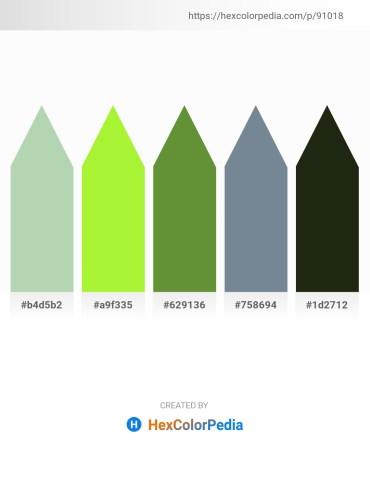 Palette image download - Dark Sea Green – Green Yellow – Dark Olive Green – Light Slate Gray – Sienna