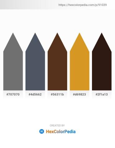 Palette image download - Dim Gray – Dark Slate Gray – Light Blue – Goldenrod – Lavender