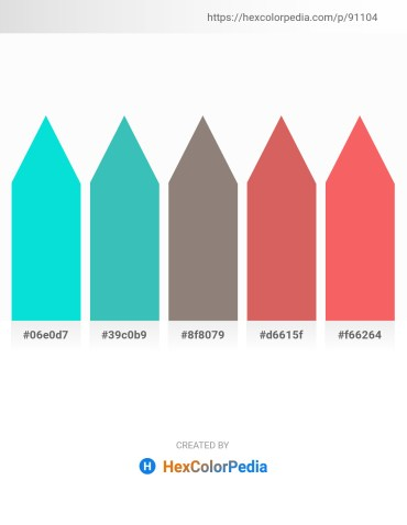 Palette image download - Dark Turquoise – Medium Turquoise – Gray – Indian Red – Salmon