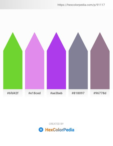 Palette image download - Yellow Green – Medium Orchid – Blue Violet – Light Slate Gray – Gray