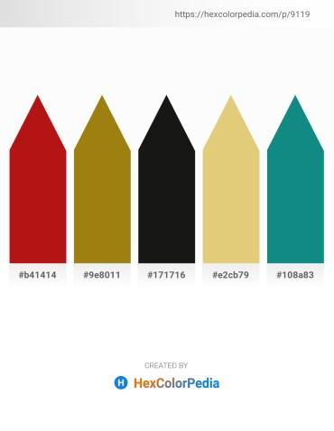 Palette image download - Firebrick – Dark Goldenrod – Black – Burlywood – Dark Cyan