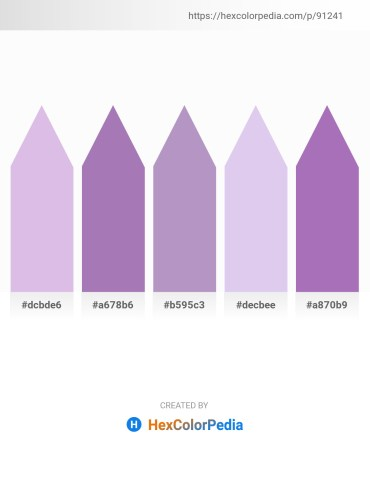 Palette image download - Light Steel Blue – Light Slate Gray – Gray – Lavender – Medium Orchid