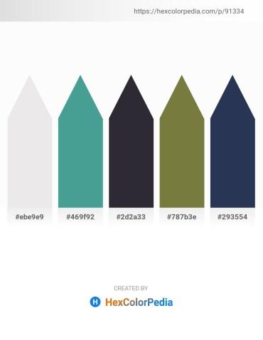 Palette image download - White Smoke – Cadet Blue – Coral – Dark Olive Green – Light Pink