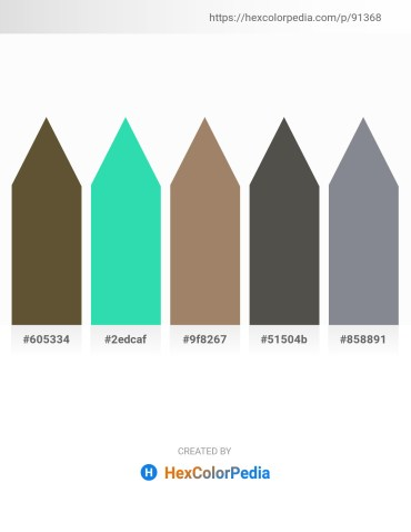 Palette image download - Dark Olive Green – Turquoise – Rosy Brown – Dim Gray – Light Slate Gray