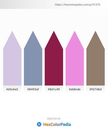 Palette image download - Light Steel Blue – Light Slate Gray – Brown – Violet – Gray