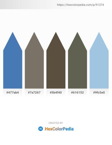 Palette image download - Steel Blue – Dim Gray – Dim Gray – Dim Gray – Light Blue