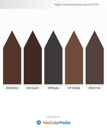 Palette image download - Saddle Brown – Indian Red – Dim Gray – Pale Green – Dim Gray