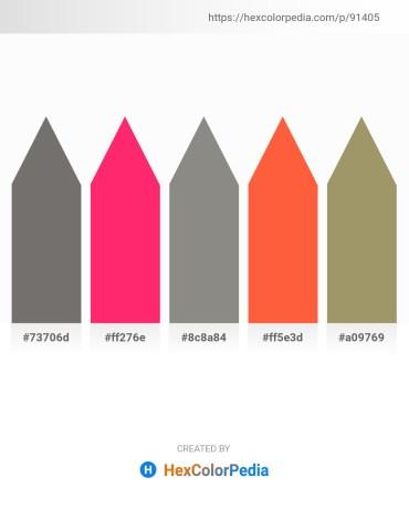 Palette image download - Dim Gray – Deep Pink – Gray – Tomato – Dark Khaki