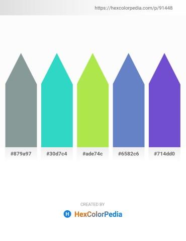 Palette image download - Light Slate Gray – Turquoise – Yellow Green – Steel Blue – Slate Blue