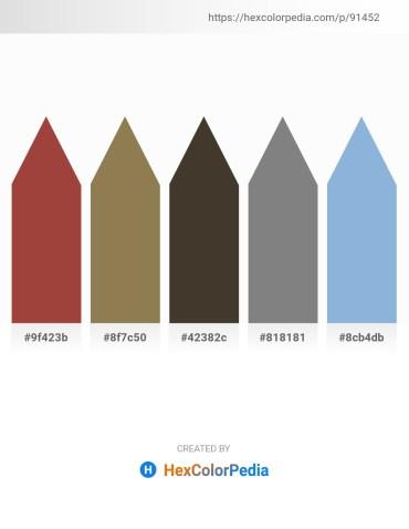 Palette image download - Sienna – Dark Olive Green – Sienna – Gray – Light Blue
