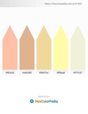 Palette image download - Navajo White – Burlywood – Khaki – Moccasin – Beige
